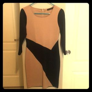 The Limited Formal Black and Tan Dress